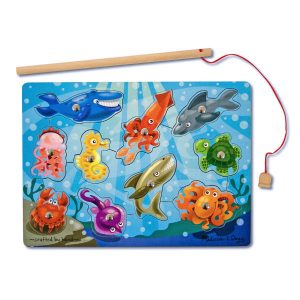 Melissa Doug magnetic fishing puzzle game
