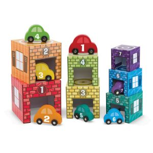 Melissa Doug nesting stacking garages