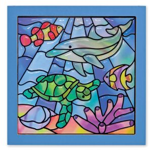 Melissa Doug stained glass ocean