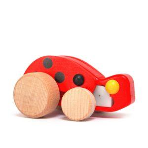 bajo wooden pullback ladybird toy