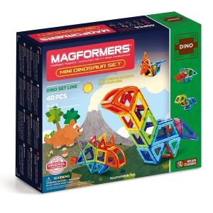 magformers bristol magnetic construction toy mini dinosaur set 40 pieces box