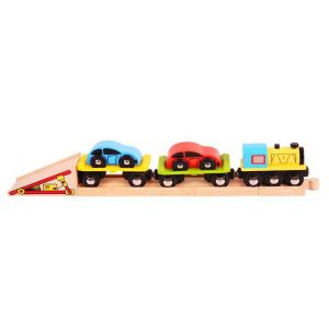 bigjigs car loader train