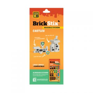 brickstix reusable stickers castle
