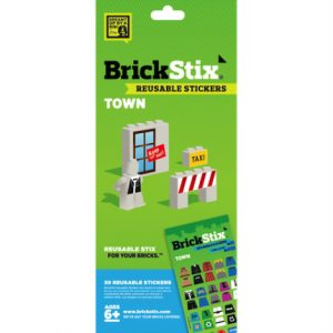 brickstix reusable stickers town