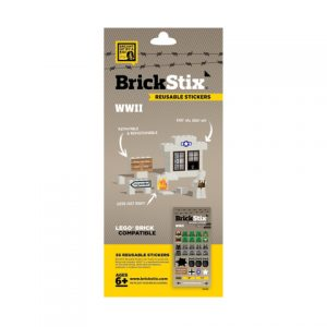brickstix reusable stickers wwii