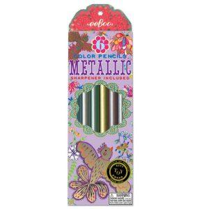 eeboo metallic colouring pencils golden birds