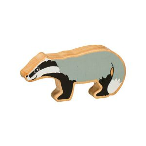 lanka kade natural painted wooden badger