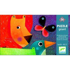 Djeco Animal Parade Giant Puzzle Box