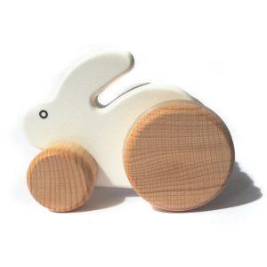 bajo small pushalong rabbit white toyville bristol