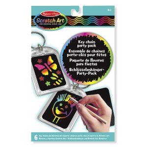 Melissa Doug scratch art keychains