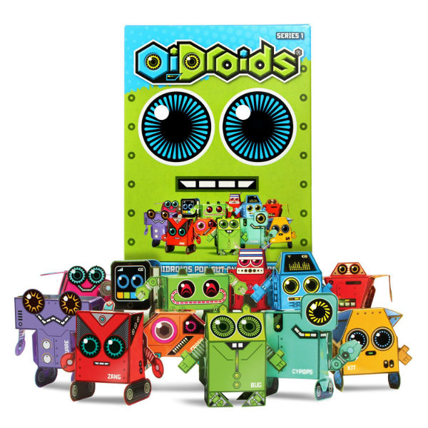 oi droids oidroids make build card board robots toyville bristol