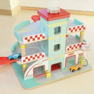 indigo jamm raceway wooden garage toy