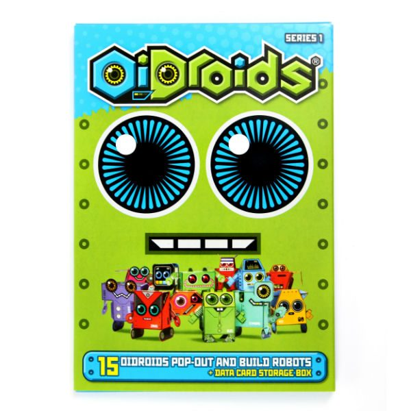 oidroids series 1 pop out and build cardboard robots pack bristol