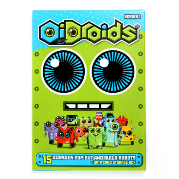 OiDroids Series 1 Pack of 15 pop out and build robot cards