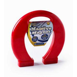 brainstorm massive magnet large red horseshoe magnet 1