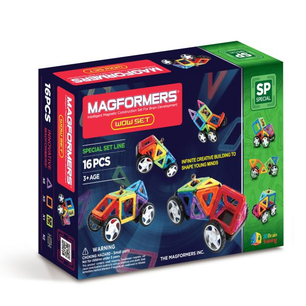 magformers bristol magnetic construction toy wow set 16 piece