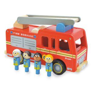 Indigo Jamm Wooden Freddie Fire Engine