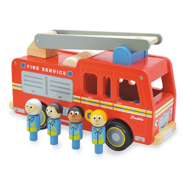 Indigo Jamm Wooden Freddie Fire Engine
