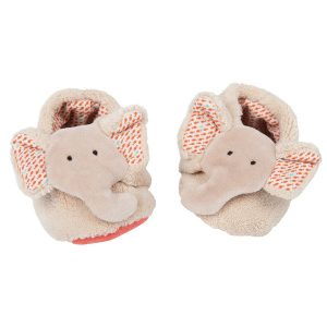 Moulin Roty Les Papoum Elephant Slippers