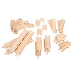 bigjigs curves and straights wooden railway expansion pack