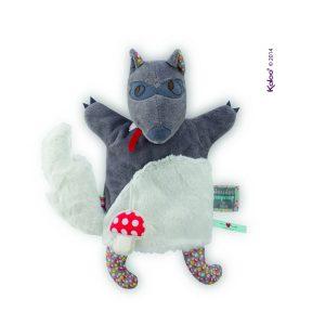 Kaloo wolf doudou nopnop puppet comforter kaloo bristol