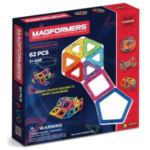magformers bristol magnetic construction toy 62 piece set