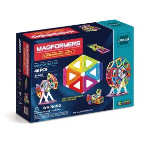 magformers bristol magnetic construction toy carnival set 46 pieces box