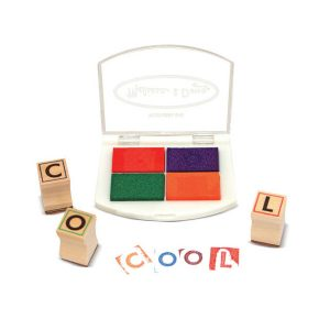melissa doug wooden alphabet stamp set