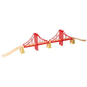 bigjigs double suspension bridge