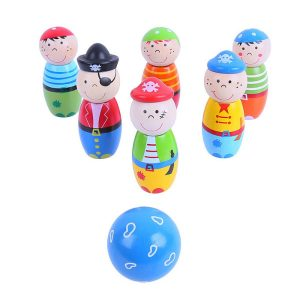 bigjigs pirate wooden skittles