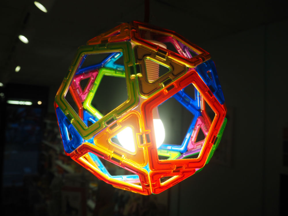 magformers toy shop lamp shade kids light shade