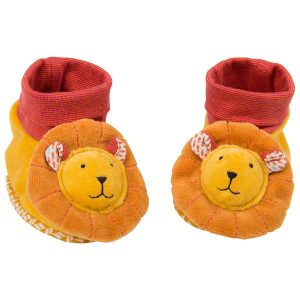 moulin roty 658012 lion baby slippers