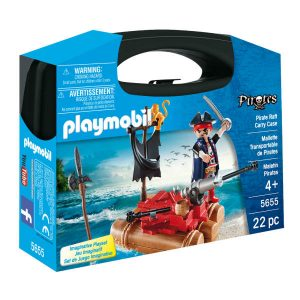 5655 playmobil pirate raft carry case