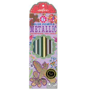 eeboo metallic colouring pencils golden birds