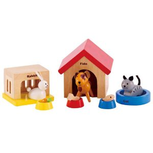 hape wooden family pets for dolls house