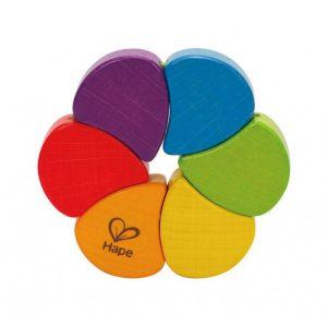 hape wooden rainbow clutching toy