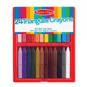 melissa doug 24 triangular crayons