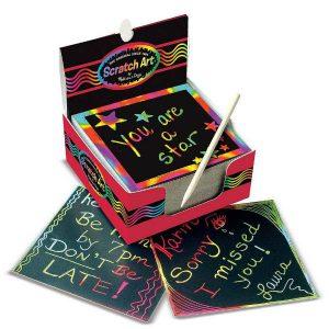 melissa doug scratch art box rainbow mini notes
