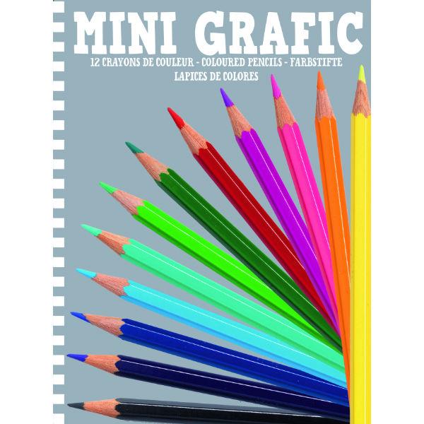 Djeco Mini Grafic Colouring Pencils
