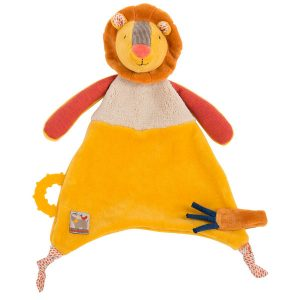 moulin roty 658017 lion pacifier comforter