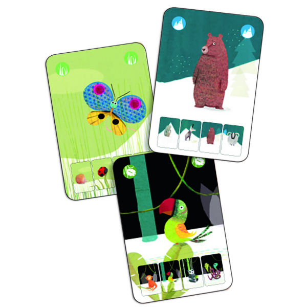 Djeco DJ05128 Mini Nature Card Game Cards