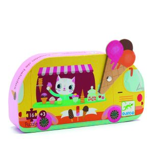 Djeco DJ07264 Ice Cream Truck Puzzle Box