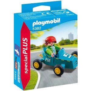playmobil 5382 boy with go kart