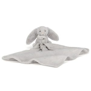 jellycat bashful silver bunny soother open