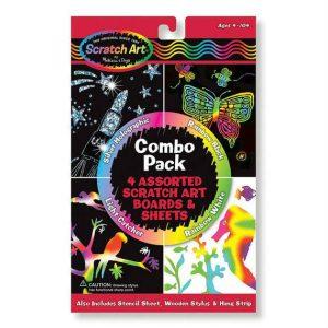 melissa doug scratch art combo pack