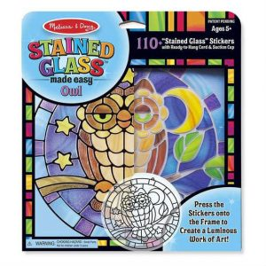 melissa doug stained glass made easy owl