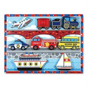 melissa doug vehicles chunky puzzle