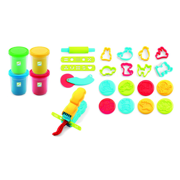 djeco DJ09755 introduction to play dough contents